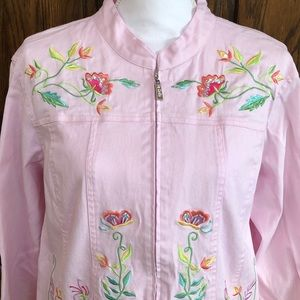 Quacker Factory Embroidered Jacket Sz 1X - GUC